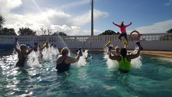 Aquajoggen tijdens uw sapvastenkuur bij Health Holidays in Portugal
